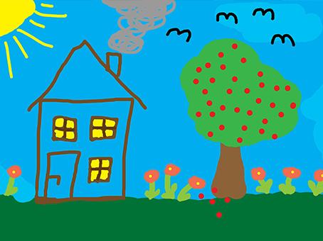 apprendre à dessiner une maison simplement comme un enfant