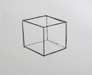 dessiner un cube et une maison à l'aide d'une technique simple