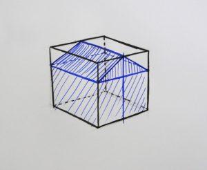 technique pour dessiner une maison en volume au stylo