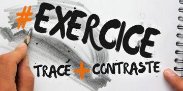 exercice simple et rapide pour dessiner au crayon et apprendre les bases du contraste