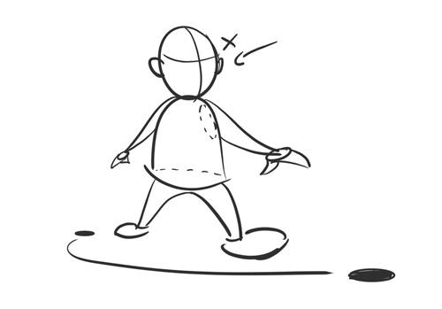 Un moyen très simple de dessiner un personnage en perspective d'imagination