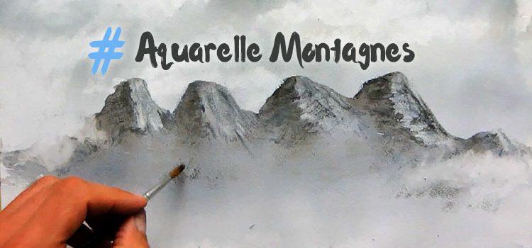 cours pour apprendre à peindre des montagnes à l'aquarelle et développer sa technique