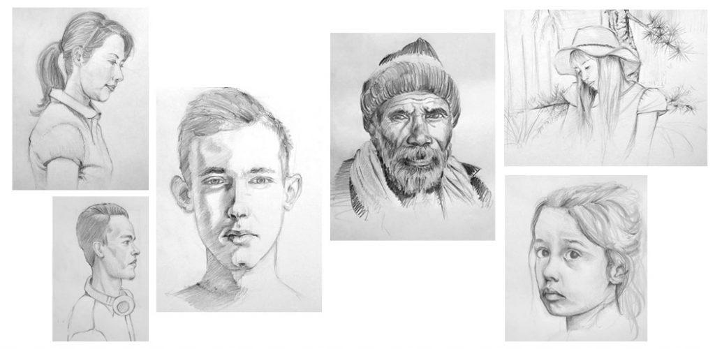 cours de dessin et série pourapprendre à dessiner des portraits et faire des croquis rapidement
