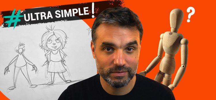 Technique et exercices pour dessiner un personnage rapide